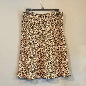 Old Navy Brown/Tan/Cream Multi-Season Flower Skirt